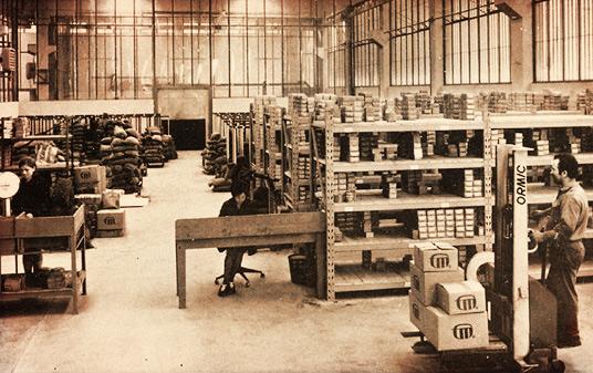Fabryka F.lli Mauri w 1953 roku.